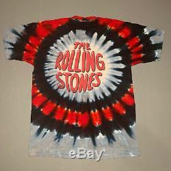 Rolling Stones Tie Dye Vintage 1994 Doublez Le T-shirt Des Hommes XL