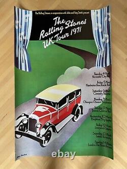 Rolling Stones Uk Tour Poster Vintage Angleterre 1971 71