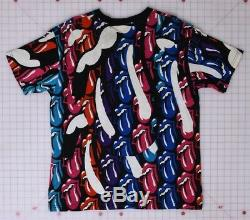 Rolling Stones Vintage Multi-langue 1989 Vintage Taille 2 T-shirt