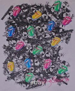 Rolling Stones Vintage Steel Wheels'89 T-shirt Blanc