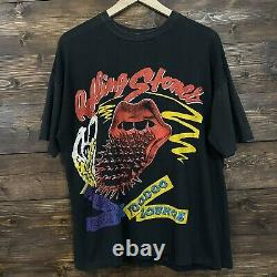 Rolling Stones Voodoo Lounge 1994 Noir Vintage Concert T-shirt XL
