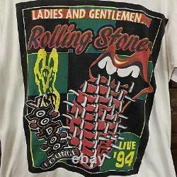 Rolling Stones Voodoo Lounge 1994 T-shirt De Concert Vintage Blanc XL