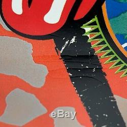 Rolling Stones Voodoo Lounge 90 Vintage Signees Numérotée Lithographiques Poster