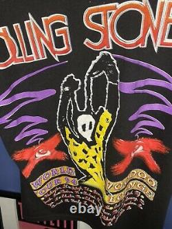 Rolling Stones Voodoo Lounge T Shirt Vintage 1994 Hommes Grand Vtg Rare