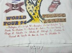 Rolling Stones Voodoo Lounge T Shirt Vintage 1994 Rare Crop Tee