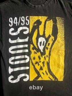 Rolling Stones World Tour 1994-1995 Band Music Faded Vintage Tee Shirt