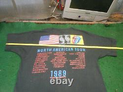 Stones Rolling Large 1989 Shirt De Chemise De Certés Vintage Nord Amérique Nord Amérique
