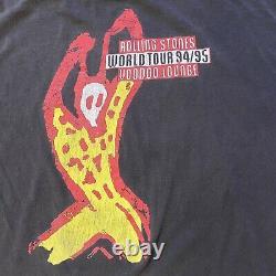Stones Rolling Voodoo Lounge World Tour 94/95 Vintage Concert Band T-shirt Large