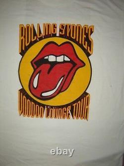 T-shirt De Concert Vintage Rolling Stones 94 Ne Jamais Jamais Un Lavage Worn