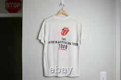 The Rolling Stones 1989 Tour Vintage T-shirt Large L 1980s 80s Band