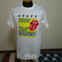 The Rolling Stones 1990 Japan Tour Staff T-shirt Sizel Vintage Rare White