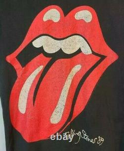 The Rolling Stones North American Tour 1989 Hommes L Vintage T-shirt Fruit Of Loom