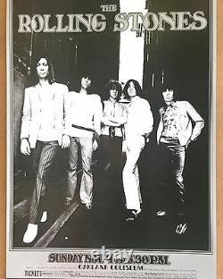 The Rolling Stones Oakland Colliseum Vintage Affiche Originale 1969