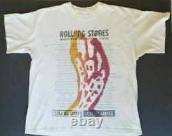 The Rolling Stones Original 1995 Mexico City Tour T Shirt Double Face Mick Rare