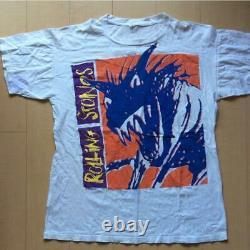 The Rolling Stones T Shirt 1990 Vintage Rock Band One Size Hommes Blanc Utilisé Rare