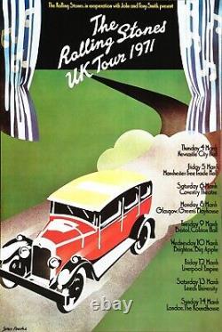 The Rolling Stones Uk Tour Vintage 1971 Affiche De Concert