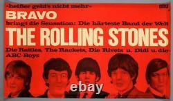 The Rolling Stones Vintage Original Berlin 1965 Affiche De Concert Trimmed