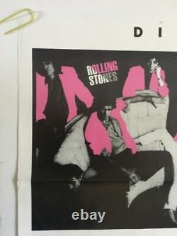 The Rolling Stones Vintage Poster Dirty Work Promo Années 1980 Pin-up Retro Music Annonce