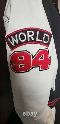 The Rolling Stones Vintage World 94 Varsity Jacket Brockum Adult L Voodoo Tour