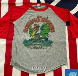 True Vintage 1981 Rolling Stones Tour T-shirt Raglan Baseball Tee Prince La