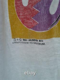 Véritable Original Vintage Rolling Stones Urban Jungle 1990 Tour T-shirt Vg Con