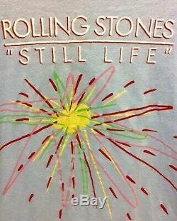 Véritable Rolling Stones Vintage Still Life European Tour T-shirt 1982