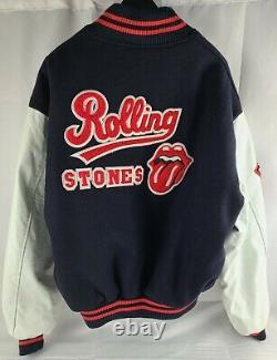 Veste Letterman Vintage Rolling Stones De 1994 World Tour Sz L Brockum