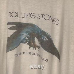 Vintage 1975 Rolling Stones Tour Of America Chemise L-m