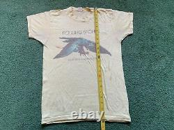 Vintage 1975 Rolling Stones Tour Of The Americas'75 T-shirt Single Stitch Band