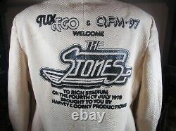 Vintage 1978 Concert Qfm-97 Rolling Stones 4ème Juillet Stade Rich Veste Manteau Tux