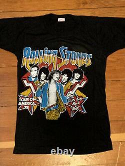 Vintage 1978 Rolling Stones Chemise De Concert Deadstock