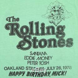 Vintage 1978 Rolling Stones Mick Jagger Concert Anniversaire T-shirt
