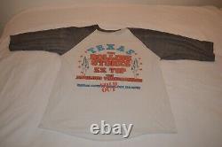 Vintage 1981 Original Rolling Stones Concert T-shirt Dallas Tx. 3/4 Sleeve Sz L