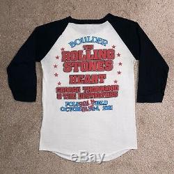Vintage 1981 Rolling Stones Boulder Colorado Concert T-shirt De Coeur Des Années 80 Tournée Sz M