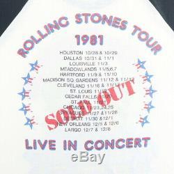 Vintage 1981 Rolling Stones Dragon Jersey Shirt Tour