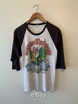 Vintage 1981 Rolling Stones T-shirt De Dragon Hommes Taille XL Concert De Rock