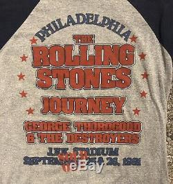 Vintage 1981 Rolling Stones T-shirt Jersey Philadelphie
