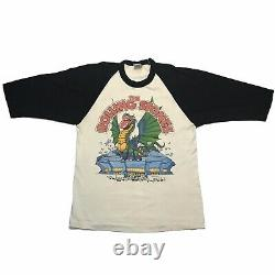 Vintage 1981 Rolling Stones Tour 50/50 Raglan Baseball Shirt Large 80s Band Tee