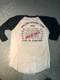 Vintage 1981 The Rolling Stones Dragon American Rock Concert Tour T Shirt XL