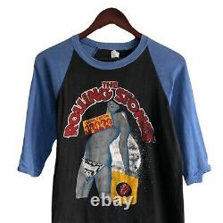 Vintage 1983 Les Rolling Stones Undercover Concert Raglan Shirt