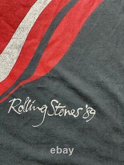 Vintage 1989 Rolling Stones'89 La Bande Nord-américaine Tee Tour T-shirt Taille XL
