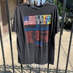 Vintage 1989 Rolling Stones Le T-shirt North American Tour Sz Xl-fit M/l 21x28