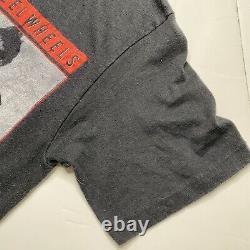 Vintage 1989 Rolling Stones Steel Wheels North American Tour Budweiser T Shirt