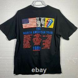 Vintage 1989 Rolling Stones Steel Wheels Tour T-shirt Homme Large