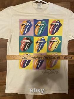 Vintage 1989 The Rolling Stones North American Tour Concert 80s T Shirt L