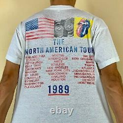 Vintage 1989 The Rolling Stones Steel Wheels Tour T-shirt White Size M