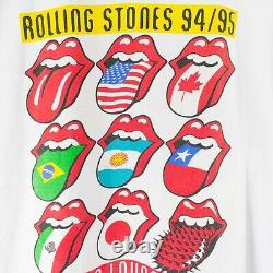 Vintage 1994 1995 Rolling Stones Voodoo Lounge Tour T-shirt Taille XL