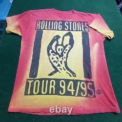 Vintage 1994-95 Rolling Stones T-shirt Voodoo Lounge XL All Over Print Tour