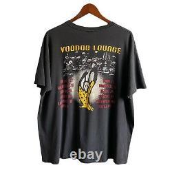 Vintage 1994 Rolling Stones Voodoo Lounge Concert Tour Chemise En Détresse