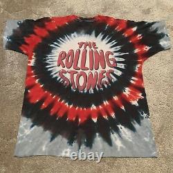 Vintage 1994 The Rolling Stones Tie Dye T Shirt Size XL Band Tour Tee USA